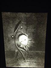 """Odilon Redon """"Marsh Flower 2"""" French Symbolist Art 35mm Glass Slide"""