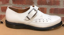 DR. MARTENS ROUSDEN WHITE SMOOTH   LEATHER  SHOES SIZE UK 9.5