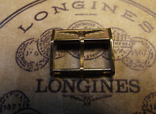 "LONGINES VINTAGE GOLD COLOR "" UNROC "" BUCKLE 16 mm - SWISS MADE"