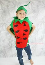 Halloween Party Red Watermelon Fruit One Piece Unisex Kids Whole Costume Outfit