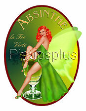 Pinup Decal Waterslide Sexy Absinthe Fairy Redhead with Demon S949 by pinupsplus