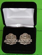 AIR FORCE Eagle Cufflinks in Presentation Gift Box USAF
