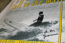 Call to the wall surf contest POSTER Malibu Surfrider 1999  - Le Roy Grannis