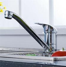 Modern Chrome Single Lever Kitchen Sink Mixer Tap Extended Swivel Spout Zara-20