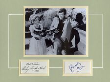 CAPTAIN JANUARY-HAND SIGNED MATTED DISPLAY BY-SHIRLEY TEMPLE & BUDDY EBSEN-AFTAL