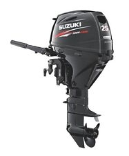 "Suzuki 25hp DF25AES Outboard, EFI, 4-stroke, 15"" Shaft - Electric start - Tiller"