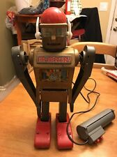 Mr Mercury Tin Robot Marx Toys Made in Japan 1960's Remote Controlled Rare Gold