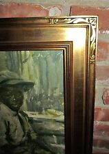 antique art nouveau henry schultheis arts crafts lg gilded carved picture frame