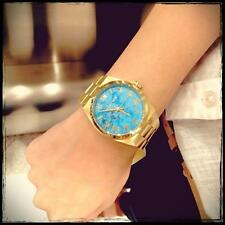 NEW MICHAEL KORS MK5894 CHANNING GOLD-TONE STEEL TURQUOISE DIAL WOMEN'S WATCH