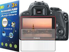 3x Anti-Glare Matte LCD Screen Protector Guard Cover Canon Rebel SL1 EOS 100D