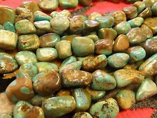 "SINGLE Strand of Blue & Green Natural Turquoise Beads  - 16 1/4"" Long"