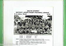 #T105.  SOUTH SYDNEY JUNIOR RUGBY LEAGUE PHOTO - 1973  S.G.  BALL TEAM