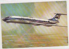 CPSM AVION PLANE  MALEV TUPOLJEV TU 134 EN VOL  1969...