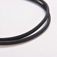 Black 3Pin Female Y-Splitter Dual Male Power Sleeved Computer Case Fan Cable LA