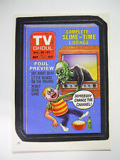 VINTAGE! 1986 Topps Wacky Packages Trading Card #29-TV Ghoul-TV Guide