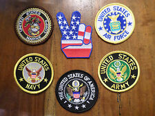LOT OF 6 Patches --  Includes Army Navy Marines Air Force Presidential Seal 3""