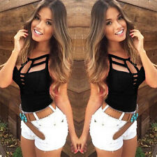 Sexy Women Summer Vest Top Sleeveless Blouse Casual Tank Tops T Shirt