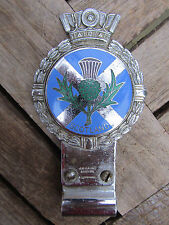 Original 1950's J R GAUNT Car Badge  SCOTLAND  ( Scottish Saltire )