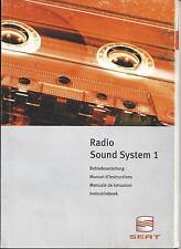 SEAT   RADIO SOUND SYSTEM  1  Bedienungsanleitung  1999   Betriebsanleitung   RN