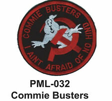 """COMMIE BUSTERS Embroidered Military Large Patch, 4"""""""