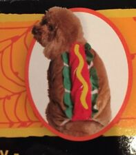 NWT HALLOWEEN HOTDOG DOG COSTUME XXS FETCHWEAR Hook & Latch Closure
