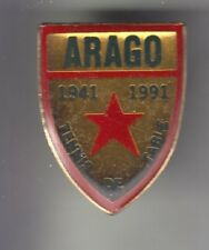 RARE PINS PIN'S .. SPORT TENNIS DE TABLE PING PONG CLUB  ARAGO PERPIGNAN 66 ~CZ