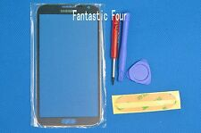 For Samsung Galaxy Note 2 II N7100 Gray Replacement Screen Glass Lens & tool