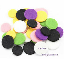 30pc Random Colol Aromatherapy Diffuser Refill Pad Fit 30mm Essential Oil Locket