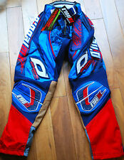ONEAL HARDWEAR RACING MOTOCROSS TROUSERS PANTS NAVY BLUE AND RED SIZE 28""