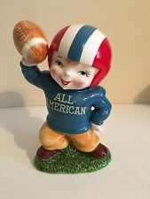 Vintage1940's 50's Lefton Japan Football Player Hand Painted Coin Bank #3145