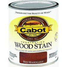 Quart Cabot Red Mahogany Interior Oil-Based Wood Stain, no. 8131