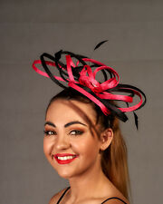 Pink & Black Looped Fascinator - BNWT - Great Design Quality Make