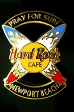 HRC Hard Rock Cafe Newport Beach Pray for Surf Crossed Surfboards