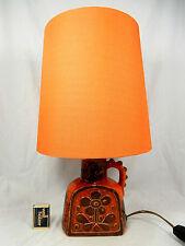 Beautiful 70´s Dieter Peter design Carstens  Keramik Tisch Lampe able lamp 46 cm