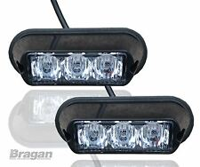 2x Amber Strobe Flashing LED Lights Recovery Truck Breakdown Lorry Lamps (Pair)