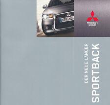 Mitsubishi - Lancer - Sportback - Prospekt - Deutsch - 10/08 -  nl-Versandhandel