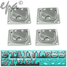 MARINE BOAT LATCH HATCH CARAVAN STAINLESS STEEL FLUSH MOUNT RING PULL X 4 #35032