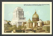 Ca 1927 PPC SUN LIFE BLDG & ST JAMES CATHEDRAL MONTREAL CANADA, MINT