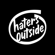 HATERS OUTSIDE CAR WINDOW STICKER VINYL DECAL LOWERED STANCE JDM CIVIC FRS #076