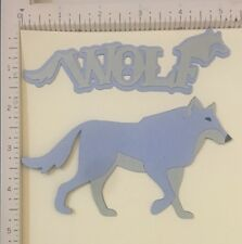 "Cricut Noah's ABC Die  Cut "" Wolf"""
