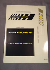Team Murray Frame Decal Sticker Set for Old School BMX Muscle Bikes Black White