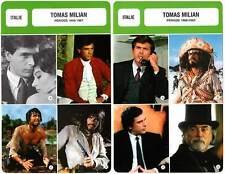 FICHE CINEMA x2 : TOMAS MILIAN DE 1959 A 2002 - Italie (Biographie/Filmographie)