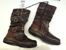 BNWT Little Girls Sz 9 Rivers Doghouse Brand Brown Buckle  Zip Side Boots RRP$50