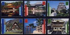 UN - All 3 Offices . 2001 Japan World Heritage (6) . Mint Never Hinged
