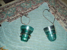 Vintage Glass Insulator & Wire Apple & Heart Wall Sconce Candle Holder Set of 2