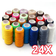 24 Lot Polyester Spools Reel Cord String All Purpose Sewing Threads Great Qua US