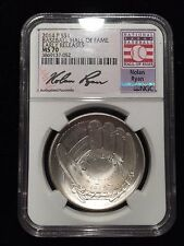 2014 P Silver Baseball Commemorative Dollar NGC MS70 Early Releases Nolan Ryan