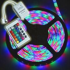 5M 300LEDs 3528 RGB Multicolor Flexible Led Strip Lights + 24Key For Fairy CAR