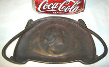 ANTIQUE VICTORIAN CAST IRON BRADLEY HUBBARD LADY BUST JEWELRY COIN TRAY HOLDER