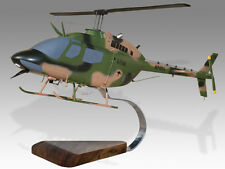 Bell OH-58 Kiowa Australian Army Solid Mahogany Wood Desktop Helicopter Model